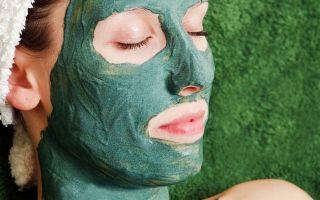 Омолаживающая маска из зеленой глины
